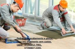 Pedreiro de acabamento e pintor