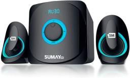 Caixa de Som Multimídia 2.1 Bluetooth Sumay SM-CS3313B