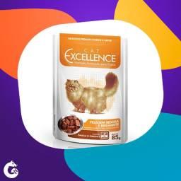 Ração Selecta Cat Excellence Sachê para Gatos Pelagem Sedosa e Brilhante