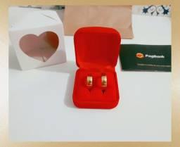 Par Alianças Tradicionais 6 Banhos Ouro 18K Compromisso Noivado Casamento - Promoção!!!