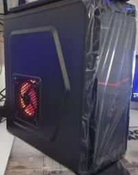 Título do anúncio: Top - Pc Gamer Intel Core i5 + win 10 + ssd + Gabinete Gamer Led Red novo na caixa