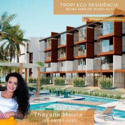 Título do anúncio: *T. Unidades de 2 quartos no Tropí Eco Residência II 56m² com varanda de frente pro mar