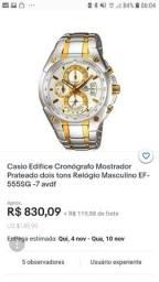Título do anúncio: Casio edifice cenógrafo Mostrador prateado dois tons relógio masculino EF-555SG AVDF