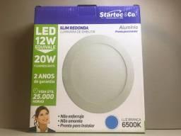 Luminária de embutir Slim redonda 12watts 6500k