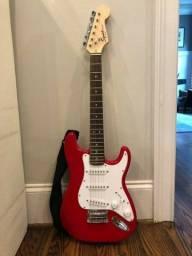 Título do anúncio: Guitarra vermelha usada apenas 2 vezes
