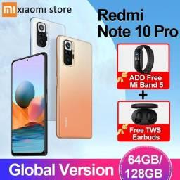 Redmi Note 10 Pro 6/128 Nfc câmera 108mp Lançamento + Mi Band 5