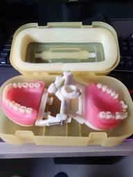 Título do anúncio: Manequim dentística (funcional) + dentes separados