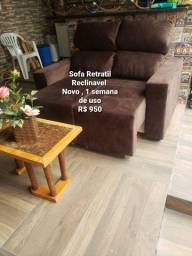 Título do anúncio: Sofa Retratil Reclinavel novo   1 semana de uso