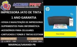 Impressora Nova Cx Multifuncional HP 2774 DeskJet Ink Advantage - Preta - Wifi