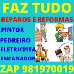 Título do anúncio: Pedreiro & eletricista