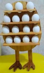 Porta ovos de Madeira