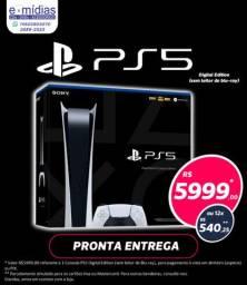 PS5 Edição Digital lacrado zero à pronta entrega