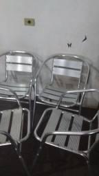 Título do anúncio: Cadeiras de alumínio usadas.