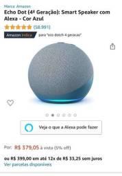 Título do anúncio: Alexa Echo Dot 4ª Geração - Estado de Nova.