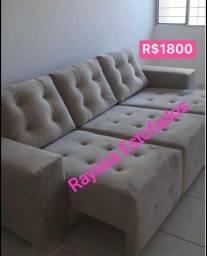 Título do anúncio: Lindos sofá direito da fábrica ?
