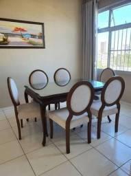 Título do anúncio: Mesa em sucupira com 6 cadeiras