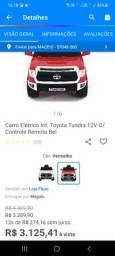 Título do anúncio: Carro elétrico Toyota. Controle remoto 12 v novo