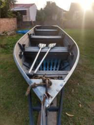 Título do anúncio: Conjunto barco de alumínio, reboque e motor