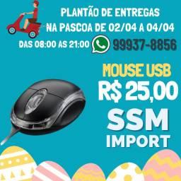 Mouse USB apenas R$ 25,00