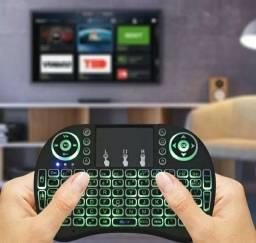 Mini teclado iluminado sem fio