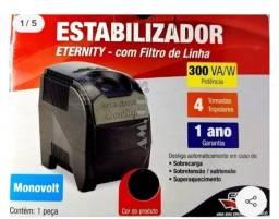 Título do anúncio: Estabilizador  Eternity 300VA com 4 tomadas Foce Line