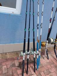Título do anúncio: Vara de pescar e molinete.