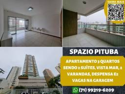 Título do anúncio: Spazio Pituba, 3 quartos sendo 2 suítes, 100m², 2 varandas, despensa e 2 vagas na garagem