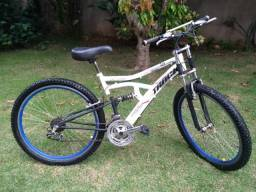 Título do anúncio: Bicicleta track 21 velocidades full suspension
