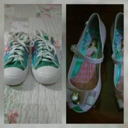 Tênis Frozen, Sapato estilo Cinderela.