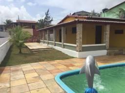 Casa Praia Barreta, 3 Quartos, Espaço Gourmet com Piscina e Churrasqueira, Mobiliada