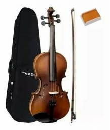 Violino vogga marrom completo