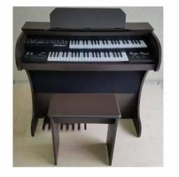 Órgão Rohnes Onix Plus Preto.- Novíssimo