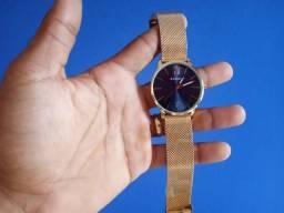 Relógio unissex lindo a prova d'água e aço inoxidável e barato