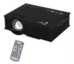 Projetor Audisat Pj-046 De 1.200 Lúmens Wi-fi Hdmi Bivolt