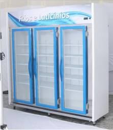 Auto Serviço 3 Portas 2 metros / Expositor Frios e Laticínios / Balcão Refrigerado