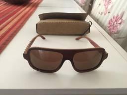 0e24d7e9ce780 Óculos De Sol Leaf- Madeira e Feito a Mão