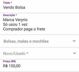 Vendo Bolsa Marca Veryrio