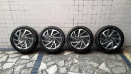 Jogo aro 17 de roda com pneus do polo/virtus originais