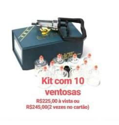 Kit com 10 ventosas R$225,00