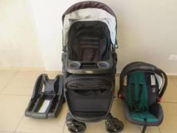 Carrinho Graco Modes (inclui bebê conforto e base para carro) - Cor preto e verde