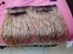 4 telas cabelos humano 60 ctm loiro