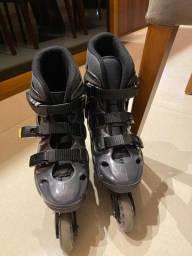 Kit par de patins semi novo, tamanho 37