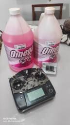 Rádio controle T8J + combustível omega