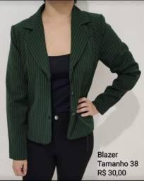 Blazer verde listrado