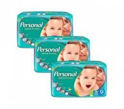 Fralda Infantil Personal Mega - 3 Pacotes