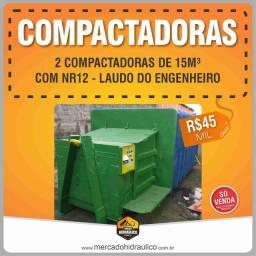 Caixas compactadoras de 15m³ ? Roll on roll off