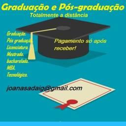 Pós Graduação EAD - pague após receber o título