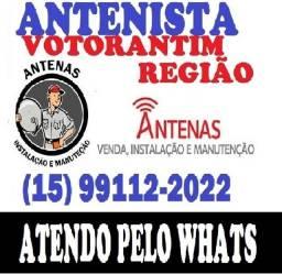 Título do anúncio: Antenista Votorantim e Regiao