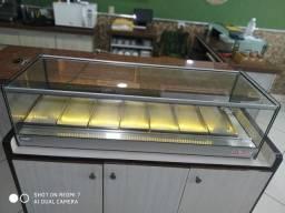 estufa classica retangular com iluminação em led