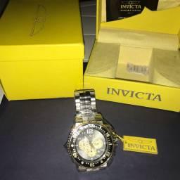 Invicta Men's 25075 Pro Diver Quartz Chronograph Black, Gold Dial Watch - Original